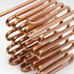 Single copper pipe 4 m processed